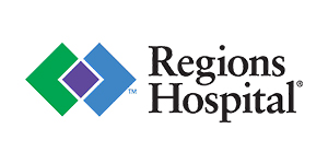 Regions Hospital logo.