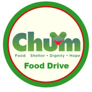 CHUM food drive logo.